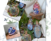 TUTORIAL Embellished Focal Bead Wire Wrapped Pendant