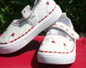 Ladybug Shoes,hand painted,canvas,girls toddler