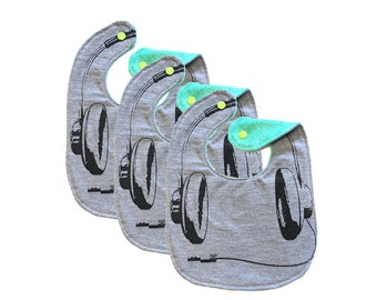 Headphones ) 3-pack  Baby's Bib