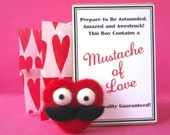 Red Mustache of Love with Gift Box