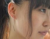 Ombré - silver earrings