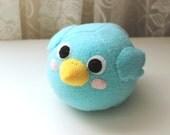 READY TO SHIP Kawaii Blue Bird Handmade Stuffed Animal