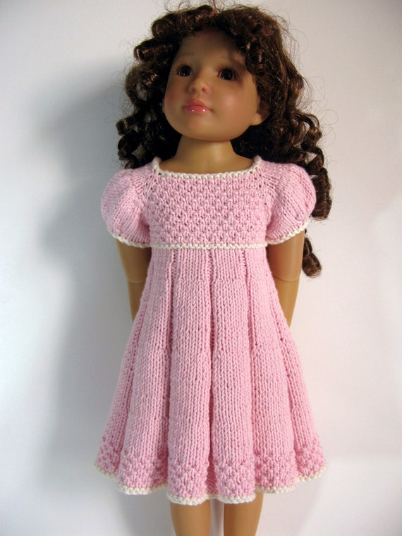 Knitting Patterns For Kidz N Cats Dolls : PLEATED SUMMER slim 18 inch doll Kidz n Cats DRESS ...
