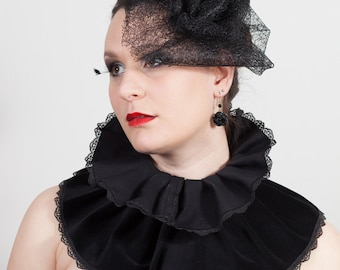 Lace Rose Hat, Gothic, wedding