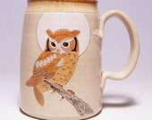Owl and Moon Pottery Coffee Mega Mug Limited Series 220 (microwave safe) 24 ounce