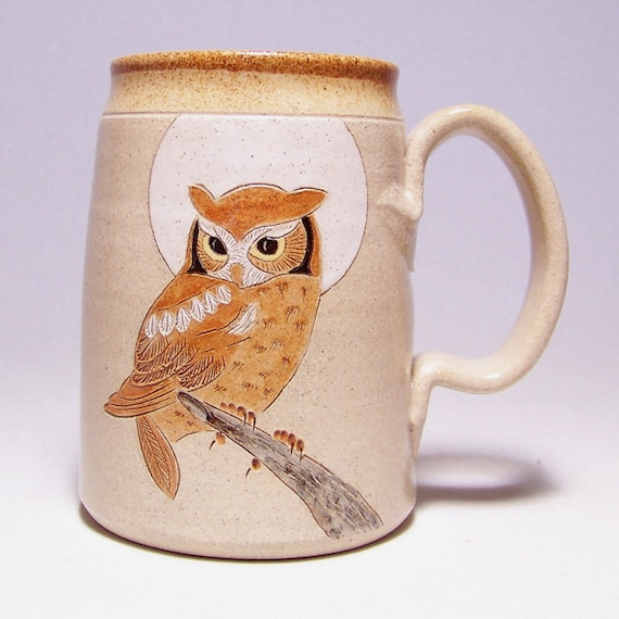 Owl and Moon Pottery Coffee Mega Mug Limited Series 220 (microwave safe) 24 ounce