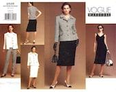 Vogue 2526 Wardrobe sewing pattern Jacket Cocktail dress top skirt pants Sz 6 to 10