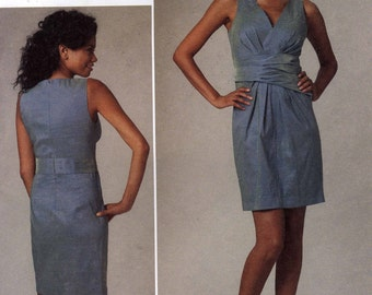 DKNY Donna Karan Designer Dress sewing pattern Vogue 1221 Sz 14 to 20