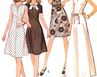 70s Brides gown or bridesmaid dress vintage 70s sewing pattern McCalls 3608 Bust 38