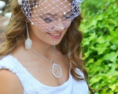 Feather Headpiece - Feather Fascinator - Bridal Hair Clip - Ivory Pearl - Wedding Fascinator -  Cruelty Free - Naturally Shed - Great Gatsby