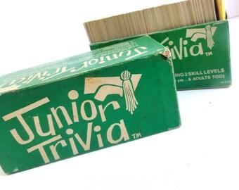 Vintage Junior Trivia Game