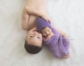 Baby Bonnet ,Pixie Bonnet ,purple cotton Bonnet ,baby girl Bonnet,photography Prop, newborn, 0-3,3-6,6-12 months