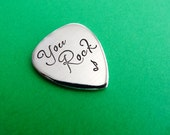 You Rock Guitar Pick - Custom Guitar Pick - Hand Stamped Accessory - Keepsake Token