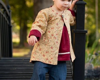 Whimsy Couture Sewing Pattern Tutorial -- Reversible Jacket  --sizes 12 m - slim 12 girls PDF Instant