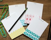 SALE!! 4 Ikat / Chevron Patterned Notepads / Market List / To Do / Notes