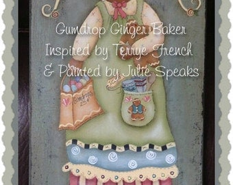 Primitive E-Pattern Angel Ginger Cinnamon Baker Painting With Friends Terrye French Christmas Candy