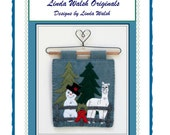 Alpacas Rock - Alpacas Fun In The Snow Mini Quilt and Embroidery E-Pattern