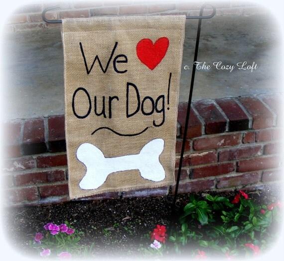 Garden Decor Cats: Items Similar To Dog Or Cat Love Burlap Garden Flag Rustic