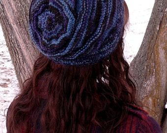 KNITTING PATTERN- Slouchy Shortrow Beanie Hat PDF Download