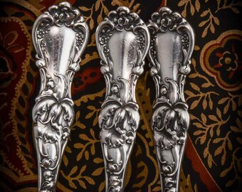 Set of 6 teaspoons in Multi-motif Floral pattern by Wallace ca 1902