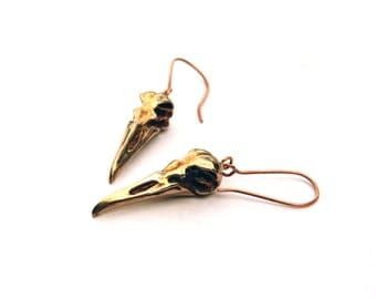 Penguin Skull Bronze Earrings