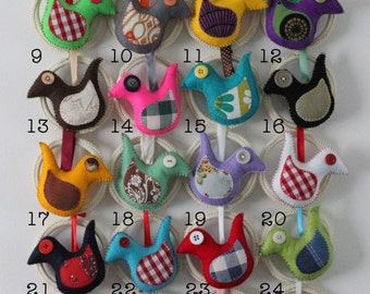 Tiny Stitches Hanging Bird - End of line sale!