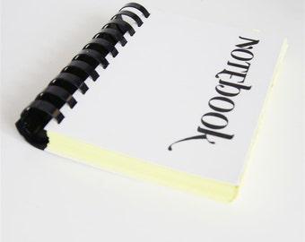 Plum & Chartreuse - blank notebook