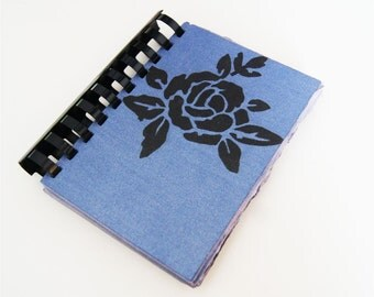 Black Rose - blank comb-bound notebook