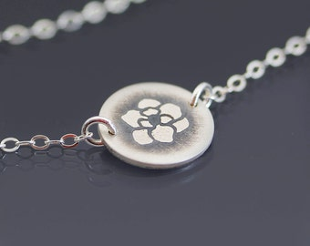 Sterling Silver Magnolia Blossom Necklace