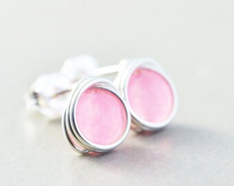 Pink Studs, Neon Pink Post Earrings, Pink Earrings, Bridesmaid Gift