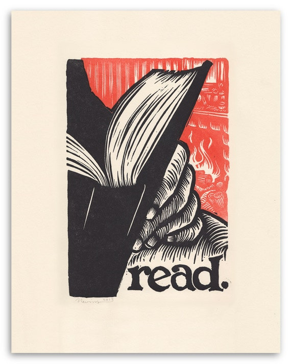 Read Letterpress Print