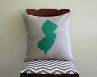 Throw Pillow Map / Moving Away Gift / New House Gift / State Pillow / NJ Pillow / State Outline / Custom State Map Gift / Map Pillow Cover