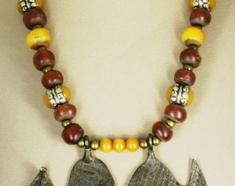 Gan Tribal Serpent Necklace