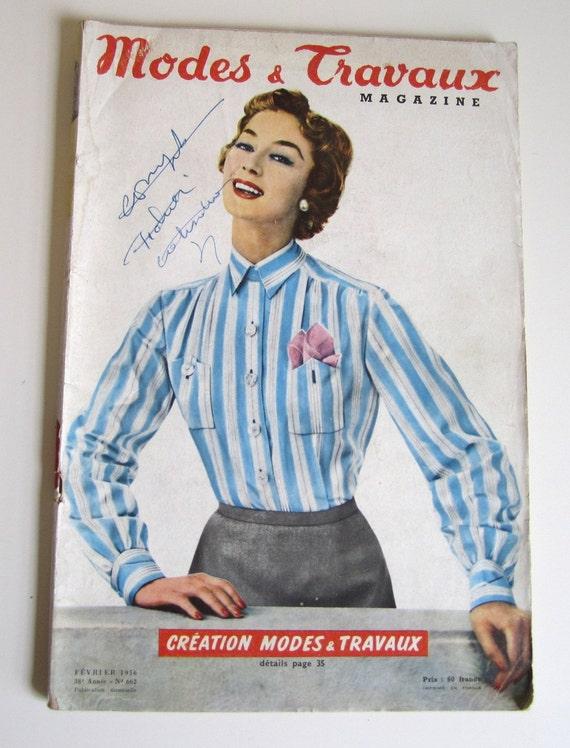 Modi di moda vintage rivista francese di 1950 et travaux n for Rivista francese di campagna