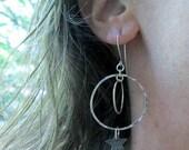 Sterling silver Meteor shower earrings