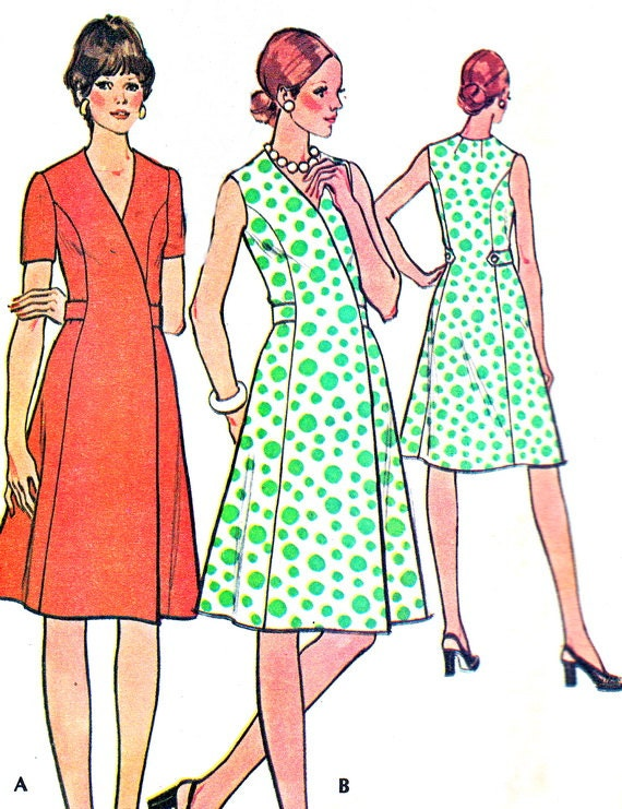 1970s Dress Pattern Mccalls
