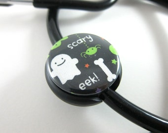 Stethoscope ID Tag Charm Clip Accesories - Ghost