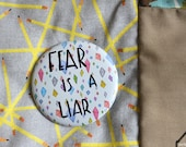 Fear is a liar pocket mirror