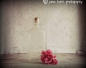 Instant Download Shabby Rustic Chic Vintage Glass Bottle with Cork and Pink Carnation Digital Photography Print Instant Download