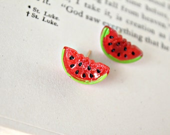 watermelon. earrings.