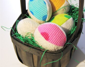 Organic Ball Sensory Set of 5 Fabric Natural Play Toy Pastel Baby Easter Gift Toddler