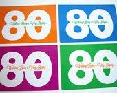 Personalized Milestone Birthday Postcards digital PDF: memorable 90th, 80th, 75th, 70th, 65th, 60th, 50th, 40th, 100th birthday idea