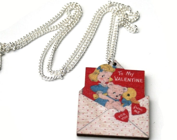 Valentines Necklace, Love Letter Necklace, Valentine's Day Jewelry