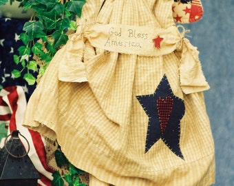 Cloth Doll E-Pattern  24in Patriotic Folkart Angel Epattern