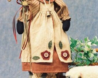 Cloth Doll E-Pattern - 17in Lamb Shepherd Doll Epattern