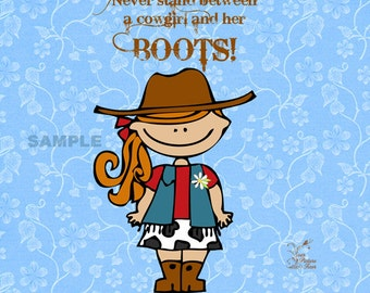 Gallery Wrap Canvas - Cowgirl Boots