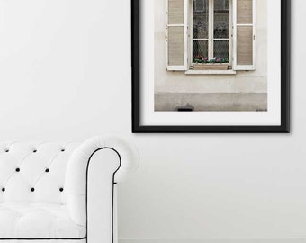 "SALE! Paris Print, ""White Window"" Extra Large Wall Art, Paris Photography Art Print, Oversized Art, Fine Art Photography Paris Decor"