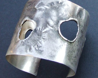 Silver Cuff Bracelet The Melt Collection Made to Order Hand Fabricated
