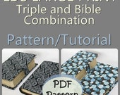 LDS LARGE PRINT Triple and Bible Combination Cover Pattern/Tutorial