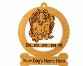 083938 Sheltie Jumping Dog Ornament